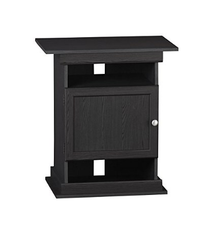 Ameriwood Flipper 10 to 20 Gallon Aquarium Stand - Strong Wood Construction, Comes in Black or Natural Oak