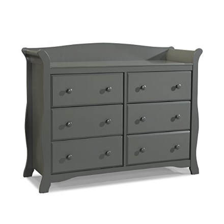 Stock Craft Avalon 6-Drawer Universal Dresser – Available in 5 Colors