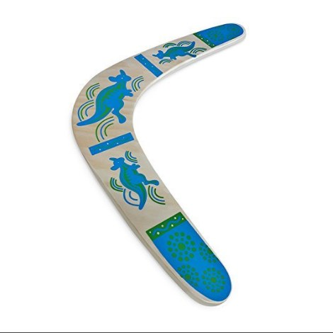 Happily Safe Wooden Boomerang