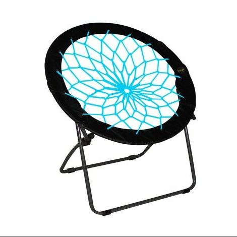 Zenithen Bunjo Bungee Folding Dish Chair in Black & Teal