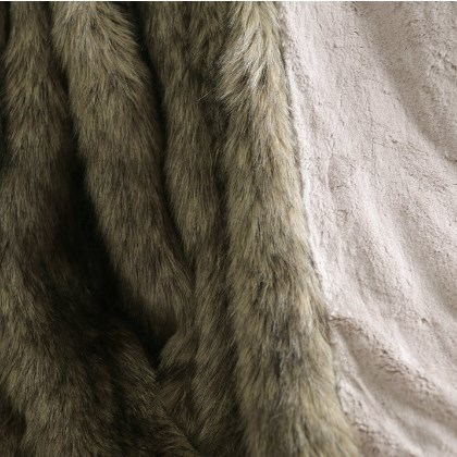 Best Home Fashion Faux Fur Throw
