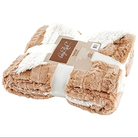Longrich Reversible Faux Fur Throw