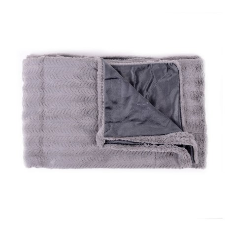 Sweet Home Collection Faux Fur and Mink Throw