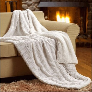 Tache Home Fashion Polar Faux Fur Blanket